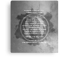 The Gray Jedi Code  Canvas Print