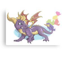 Spyro the Dragon with gems Metal Print