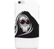 Death hooded evil creepy sunglasses iPhone Case/Skin