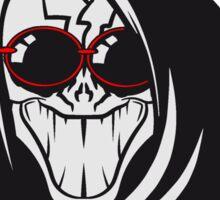 Death hooded evil creepy sunglasses Sticker