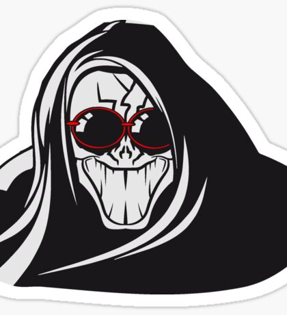 Death hooded evil creepy sunglasses Sticker