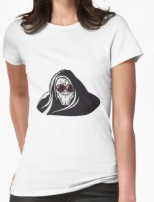 Death hooded evil creepy sunglasses Womens Fitted T-Shirt