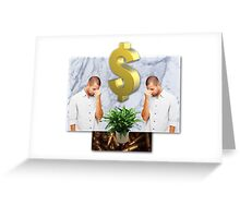 dejection economy Greeting Card