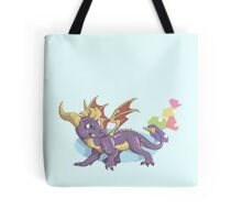 Spyro the Dragon with gems Tote Bag