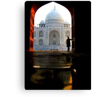 Seeing the Taj Mahal for the First Time Canvas Print
