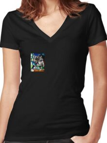 Earth,Fire,Sky Women's Fitted V-Neck T-Shirt