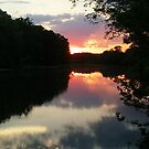 June Sunset over the Passaic River, Wayne NJ USA by Jane Neill-Hancock