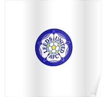 Leeds United Retro Badge Poster