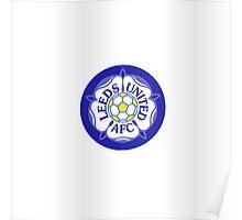 Leeds United Retro Badge Poster