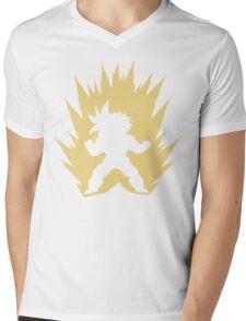 Cartoon Fighter DBZ Mens V-Neck T-Shirt