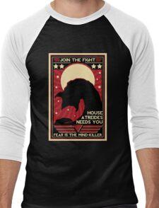 Fear is the Mind-Killer Men's Baseball ¾ T-Shirt