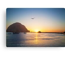 Beautiful Bay Sunset Canvas Print