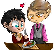 Chibi Hannibal - Cannibalism in two by Furiarossa