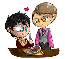 Chibi Hannibal - Cannibalism in two Photographic Print