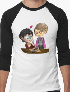 Chibi Hannibal - Cannibalism in two Men's Baseball ¾ T-Shirt