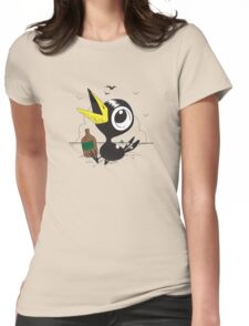 Drinky Crow! DOOK DOOK DOOK! Womens Fitted T-Shirt