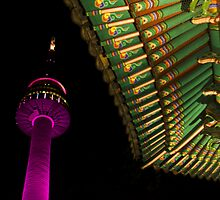 Namsan at Night by the WORLD in a  FRAME