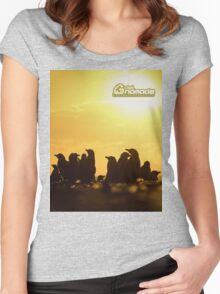 Sunset around penguins Women's Fitted Scoop T-Shirt