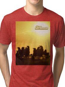 Sunset around penguins Tri-blend T-Shirt