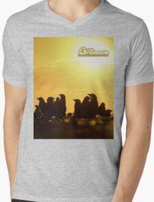 Sunset around penguins Mens V-Neck T-Shirt