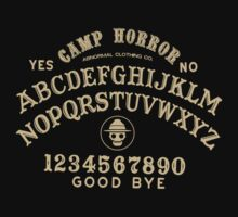 Camp Horror Ouija Board by chrisraimoart
