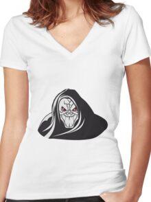Death hooded evil grusel Women's Fitted V-Neck T-Shirt