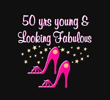50 YEAR OLD SHOE QUEEN Women's Fitted Scoop T-Shirt