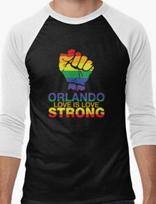 Gay Pride Orlando Strong, Love Is Love Men's Baseball ¾ T-Shirt