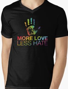 More Love Less Hate, Gay Pride, LGBT Mens V-Neck T-Shirt