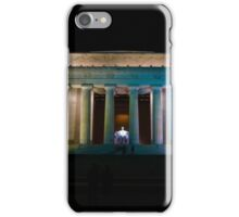 Lincoln Memorial at night iPhone Case/Skin