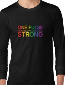 One Pulse, Peace Love Orlando Strong Long Sleeve T-Shirt