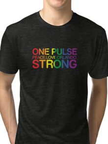 One Pulse, Peace Love Orlando Strong Tri-blend T-Shirt