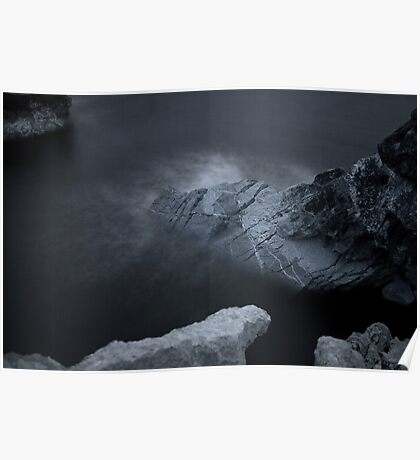 Elements Series.Infra Red - Limestone Sea Poster