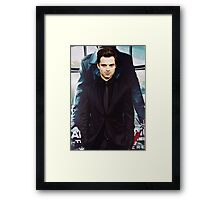Seb in Black Framed Print