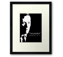 HP Lovecraft - I am Providence - Black and White Framed Print