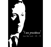 HP Lovecraft - I am Providence Photographic Print