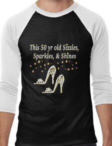 SPARKLING 50TH BIRTHDAY SHOE QUEEN Men's Baseball ¾ T-Shirt