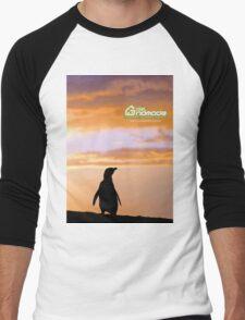 Penguin backlight in Peninsula Valdes - Patagonia Argentina Men's Baseball ¾ T-Shirt