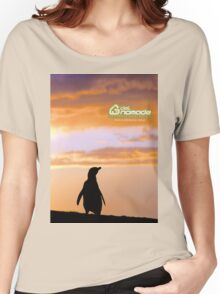Penguin backlight in Peninsula Valdes - Patagonia Argentina Women's Relaxed Fit T-Shirt