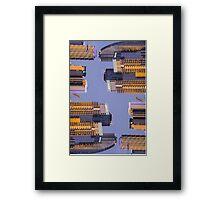 Vertical Skyline @ Dusk Framed Print
