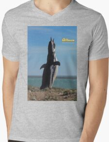 Penguin in Peninsula Valdes - Patagonia Argentina Mens V-Neck T-Shirt