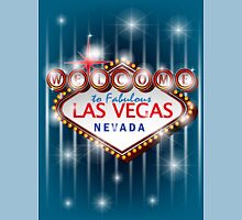 Welcome to fabulous Las Vegas Nevada sign in blue background, vector Unisex T-Shirt