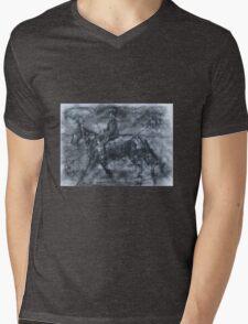 In a dusty black coat...peaky blinders art Mens V-Neck T-Shirt