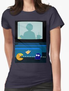 Pac Man From The Other Side Womens Fitted T-Shirt