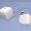 Cube Whale Beluga by Josh Bush