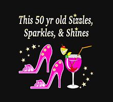 50 AND FABULOUS PARTY GIRL DESIGN Women's Fitted Scoop T-Shirt