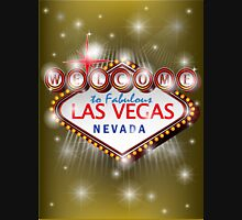 Welcome to fabulous Las Vegas Nevada sign in gold background, ve Unisex T-Shirt