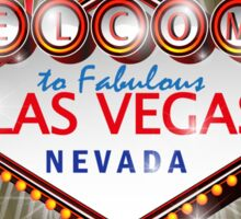 Welcome to fabulous Las Vegas Nevada sign in gold background, ve Sticker
