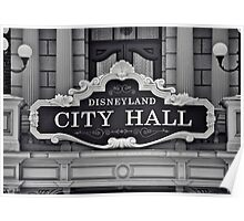 Disneyland City Hall Poster