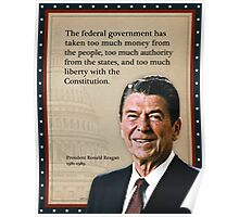 President Ronald Reagan Quote Poster